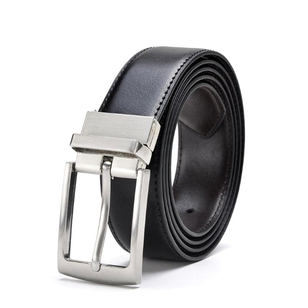 Classy Men Reversible Leather Belt Black - Classy Men Collection