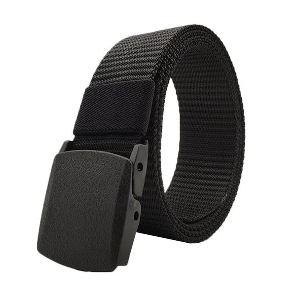 Classy Men Black Web Belt With Plastic Buckle - Classy Men Collection
