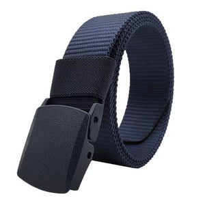 Classy Men Navy Blue Web Belt With Plastic Buckle - Classy Men Collection
