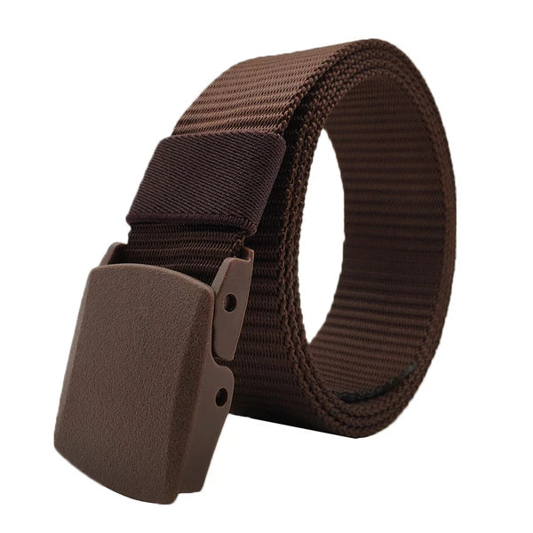 Classy Men Burgundy Web Belt With Plastic Buckle - Classy Men Collection