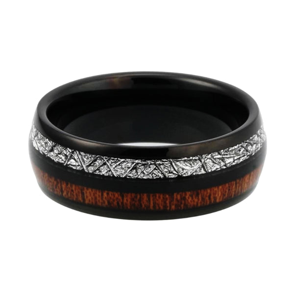 Classy Men Black Twin Wood Ring - Classy Men Collection
