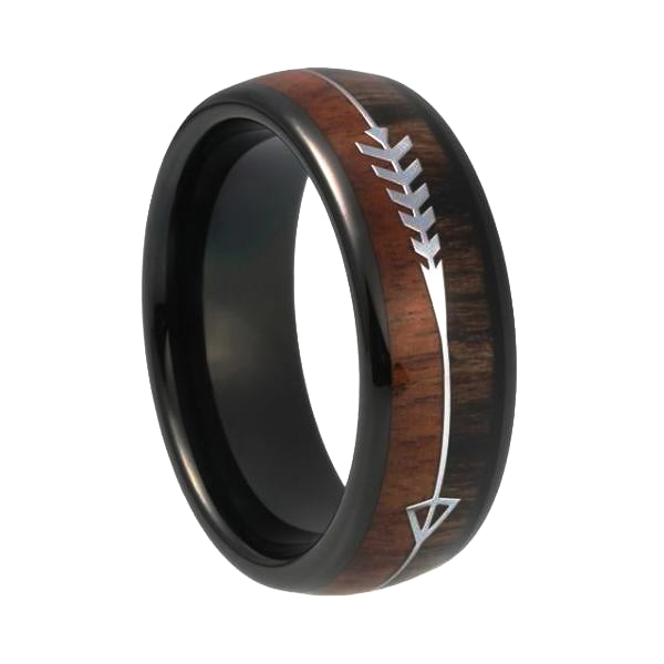 Classy Men Two-Tone Black Wood Ring