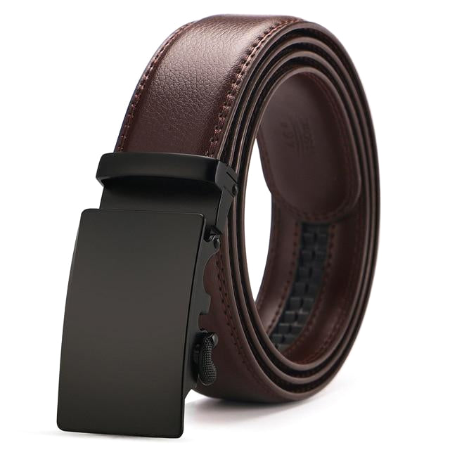 Classy Men Brown & Black Leather Suit Belt - Classy Men Collection