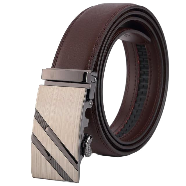 Classy Men Brown Leather Suit Belt - Classy Men Collection