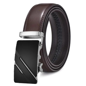 Classy Men Brown & Silver Leather Suit Belt - Classy Men Collection