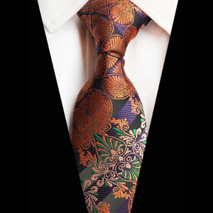 Classy Men Colorful Brocade Silk Tie - Classy Men Collection