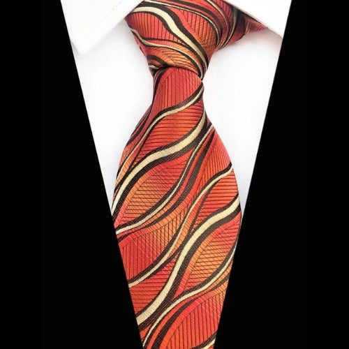 Classy Men Fire Flame Silk Tie - Classy Men Collection