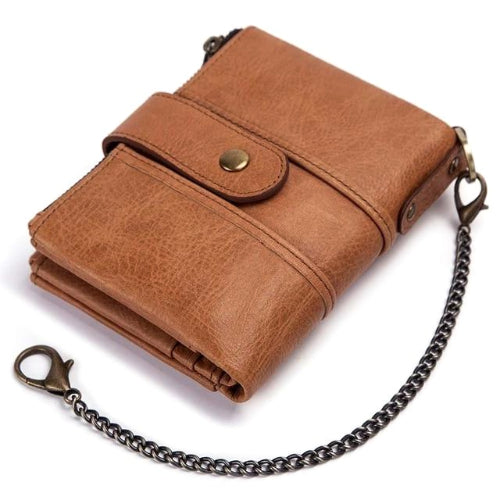 Classy Men Leather Chain Wallet - 2 Colors - Classy Men Collection