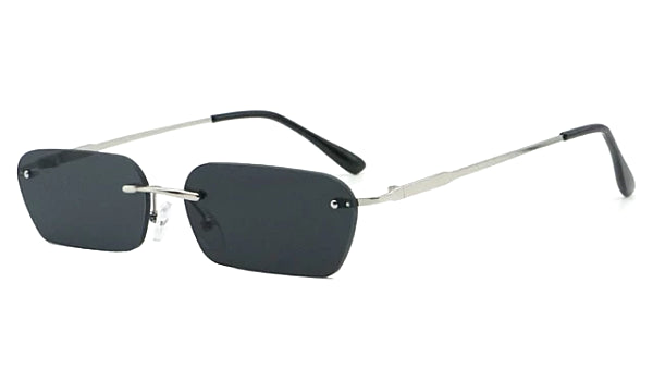 Classy Men Black Rimless Rectangle Sunglasses - Classy Men Collection