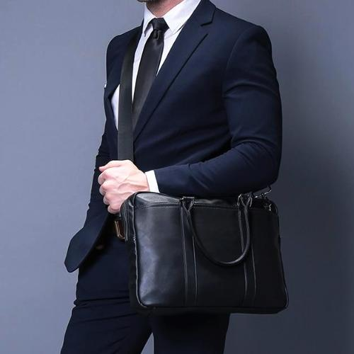 Classy Men Black Briefcase - Classy Men Collection