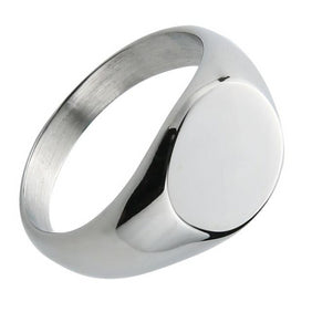 Classy Men Silver Polished Pinky Ring