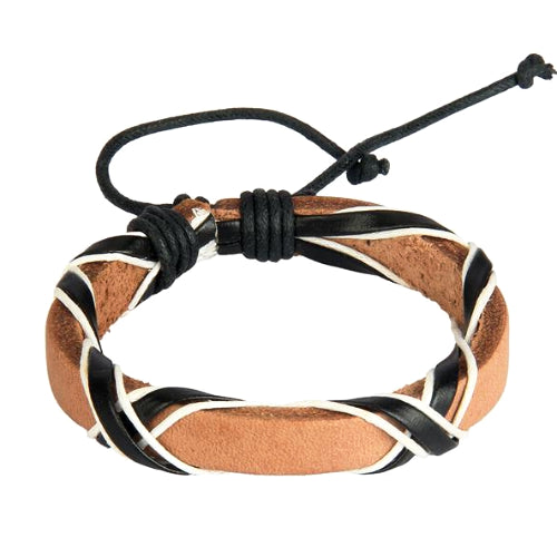 Classy Men Desert Leather Lace-up Bracelet - Classy Men Collection