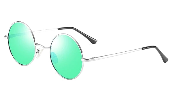 Classy Men Green Round Polarized Sunglasses - Classy Men Collection