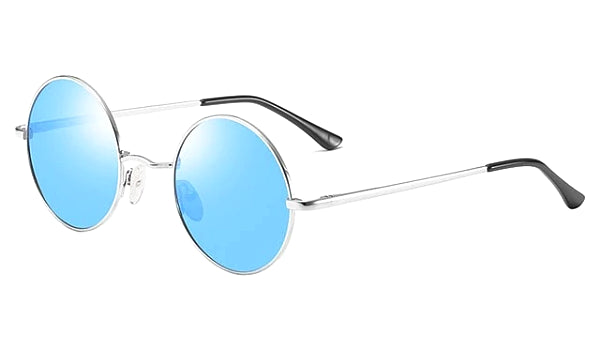 Classy Men Blue Round Polarized Sunglasses - Classy Men Collection