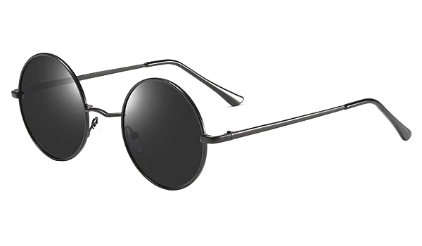 Classy Men All Black Round Polarized Sunglasses - Classy Men Collection