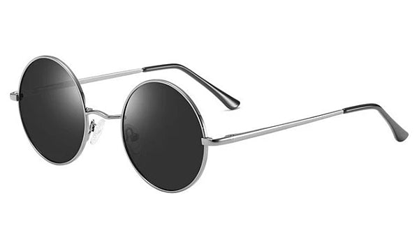 Classy Men Black Grey Round Polarized Sunglasses - Classy Men Collection