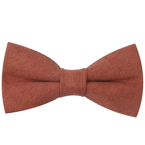 Classy Men Rust Cotton Pre-Tied Bow Tie