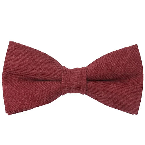Classy Men Red Cotton Pre-Tied Bow Tie
