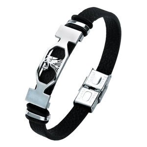 Classy Men Virgo Star Sign Leather Bracelet