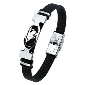 Classy Men Taurus Star Sign Leather Bracelet