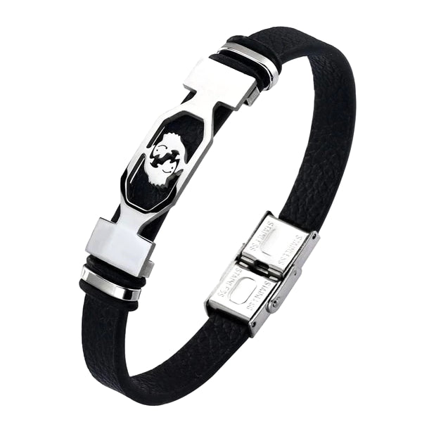Classy Men Pisces Star Sign Leather Bracelet