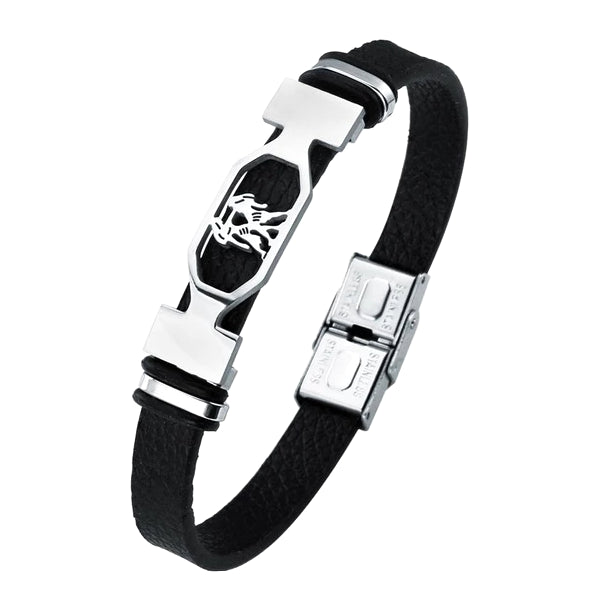 Classy Men Gemini Star Sign Leather Bracelet