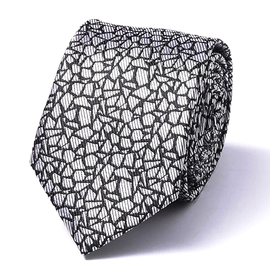 Classy Men Cracked Granite Silk Skinny Tie - Classy Men Collection