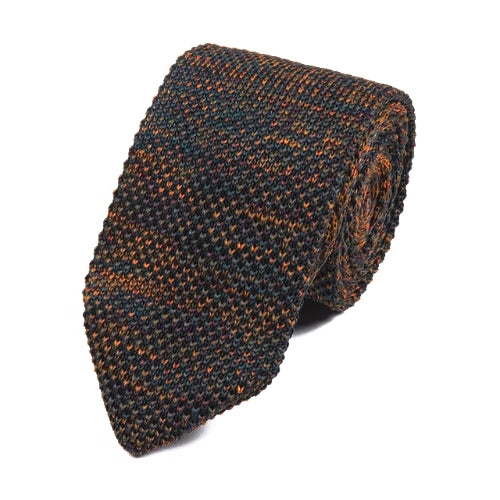 Classy Men Multicolor Knitted Tie