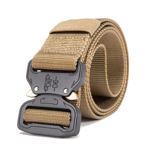 Classy Men Khaki Tactical Web Belt - Classy Men Collection
