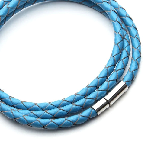 Classy Men Turquoise Multi-Layer Leather Bracelet
