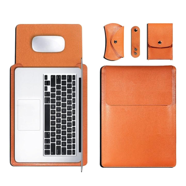 Classy Men Leather Laptop Sleeve Set - 5 Colors - Classy Men Collection