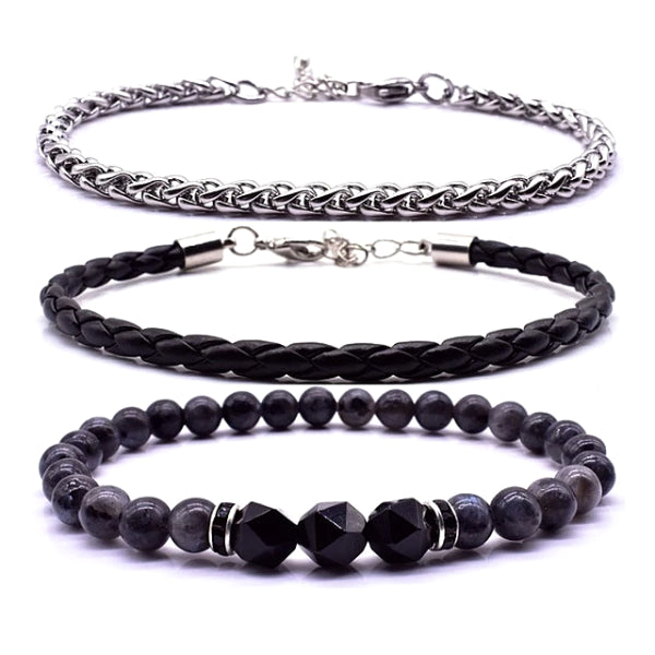 Classy Men Three-Piece Bracelet Set