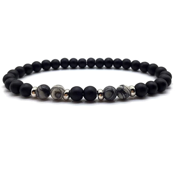 Classy Men Sleek Beaded Bracelet