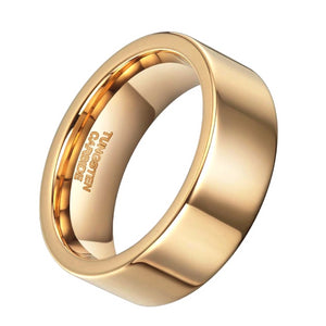 Classy Men 24k Gold Tungsten Ring - Classy Men Collection