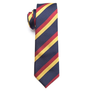 Classy Men Blue Red Yellow Skinny Tie - Classy Men Collection
