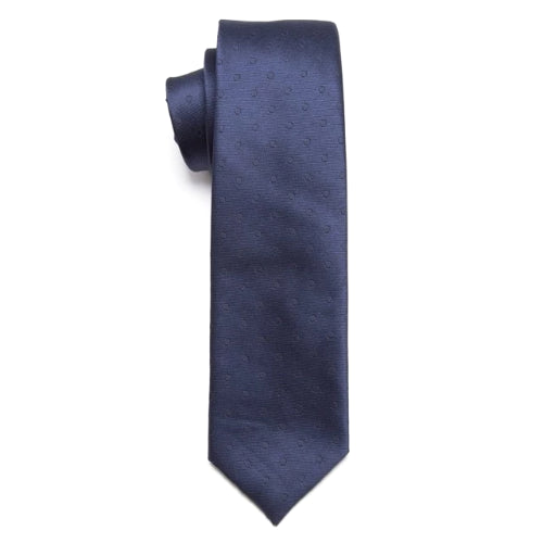 Classy Men Blue Mini Circle Skinny Tie - Classy Men Collection