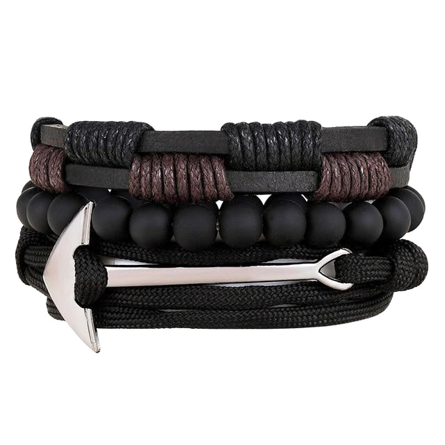 Classy Men Anchor Bracelet Set - Classy Men Collection