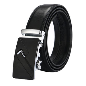 Classy Men Black & Silver Leather Suit Belt - Classy Men Collection
