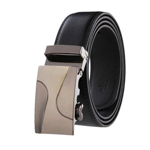 Classy Men Black Leather Suit Belt - Classy Men Collection