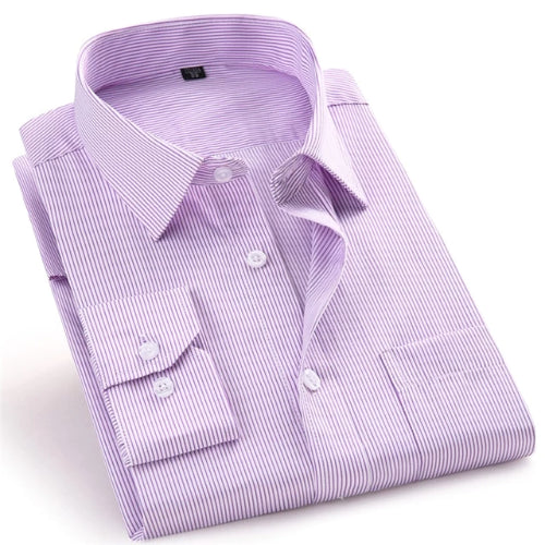 Light Purple Striped Dress Shirt | Modern Fit | Sizes 38-48
