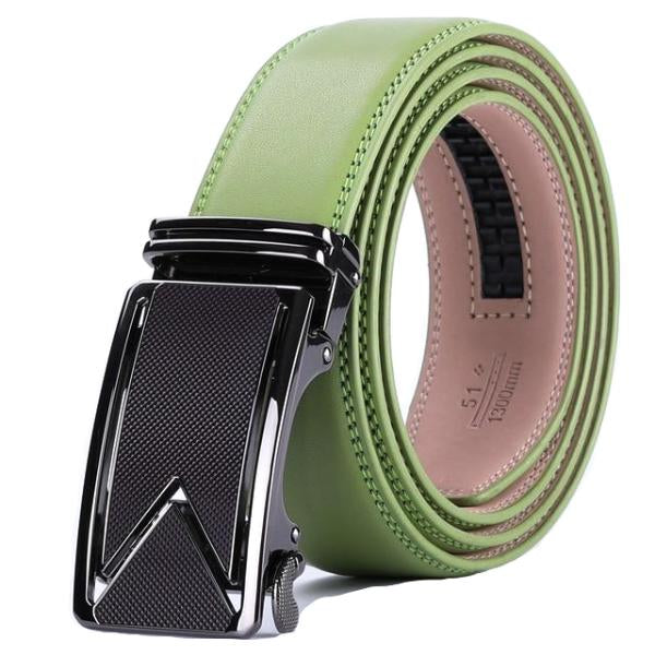 Classy Men Green Leather Dress Belt - Classy Men Collection