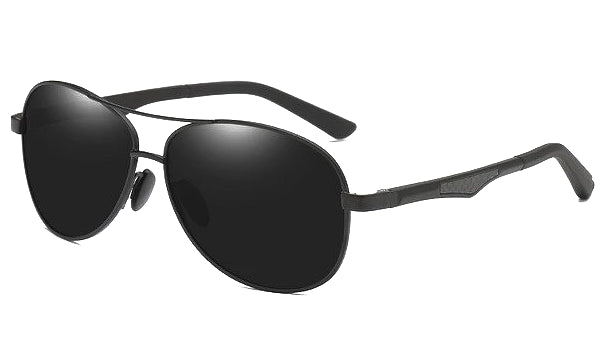 Classy Men All Black Polarized Pilot Sunglasses - Classy Men Collection