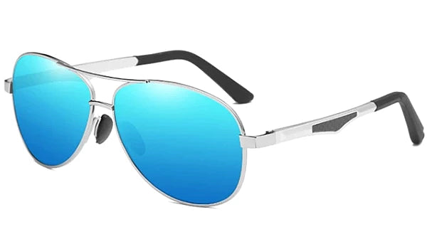 Classy Men Blue Polarized Pilot Sunglasses - Classy Men Collection