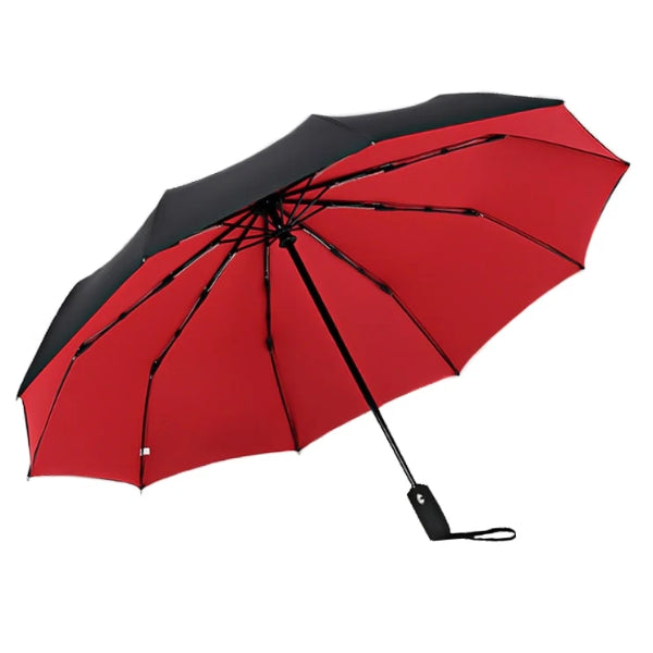Red & black 2 color umbrella open
