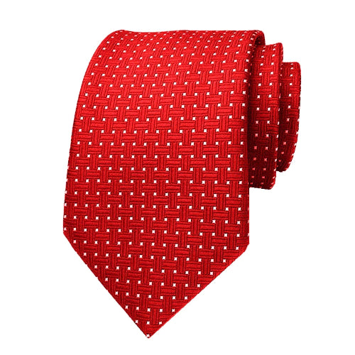 Classy Men Red Dotted Silk Tie
