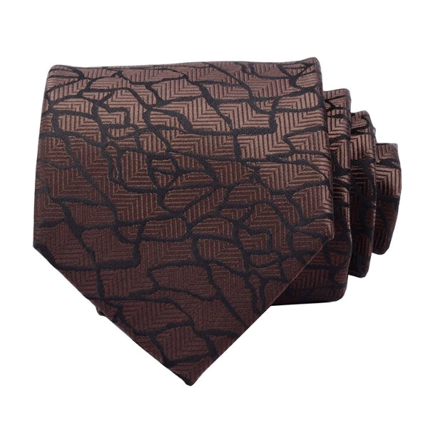 Classy Men Royal Brown Silk Necktie