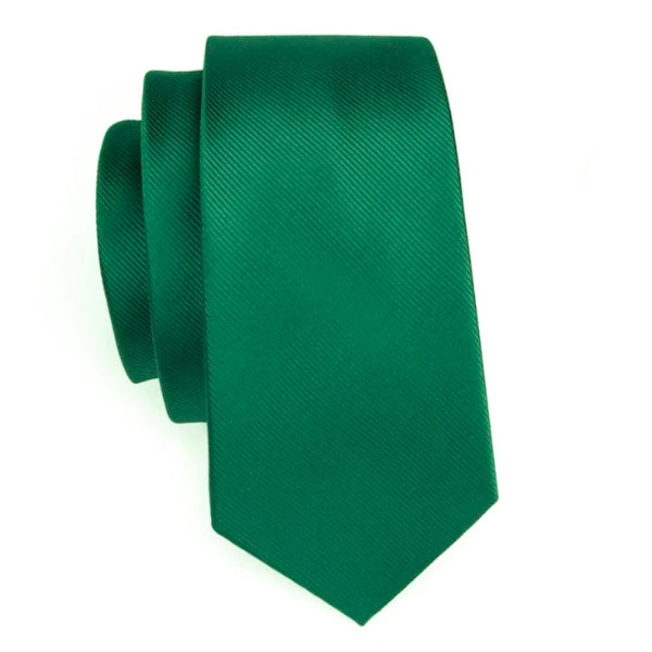 Shamrock green silk necktie