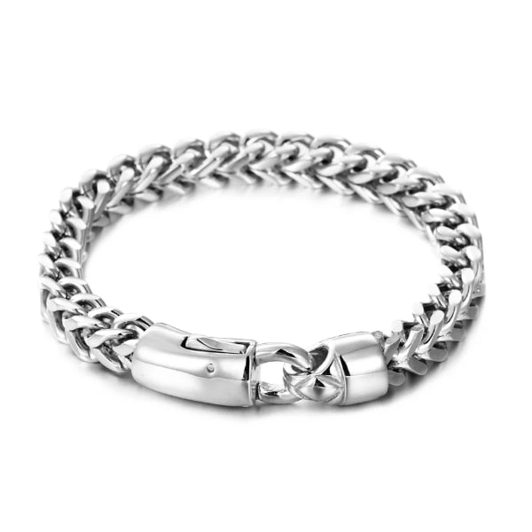 Classy Men 8mm Silver Lobster Chain Bracelet