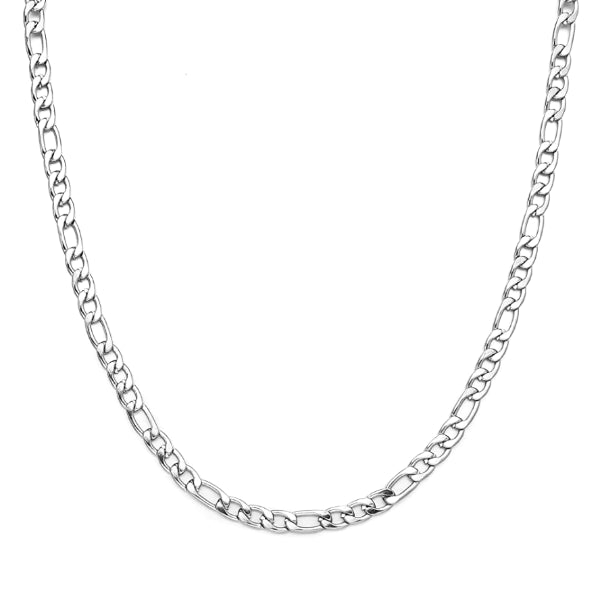Classy Men 3mm Silver Figaro Chain Necklace