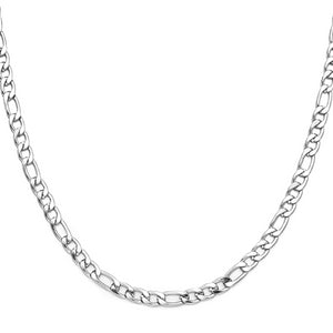 Classy Men 9mm Silver Figaro Chain Necklace